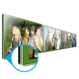 Multi photo panel gallery print 120×20 cm