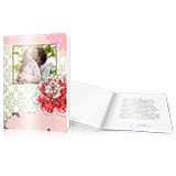 Menu cards with design long fold - set of 10